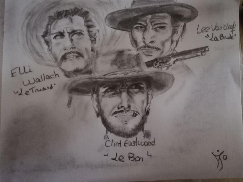 Lee Van Cleef, Clint Eastwood by Elfe58